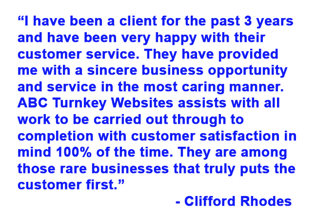 ABC Turnkey Websites 5-star testimonials