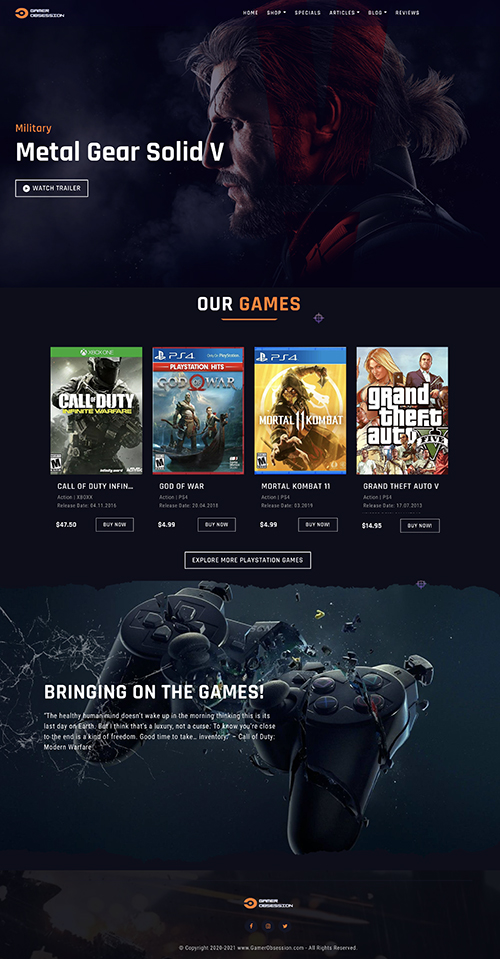 video game website business for sale
