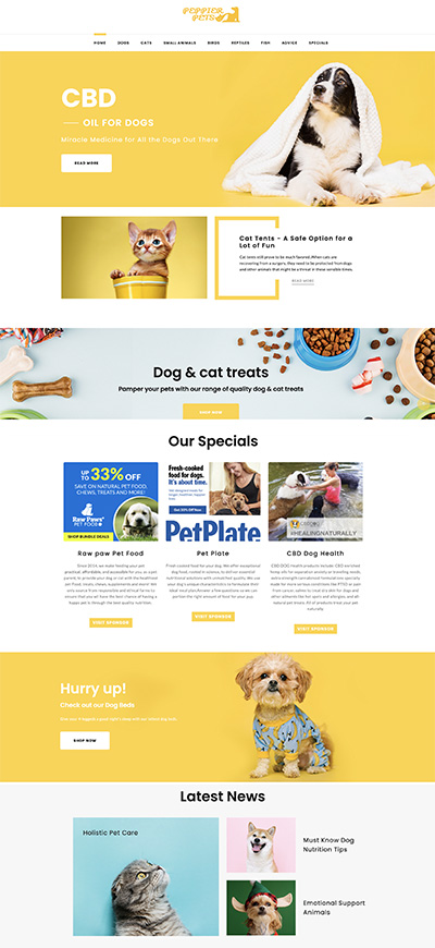 pet shop website business for sale